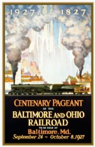 Vintage Travel Poster Baltimore and Ohio Rail